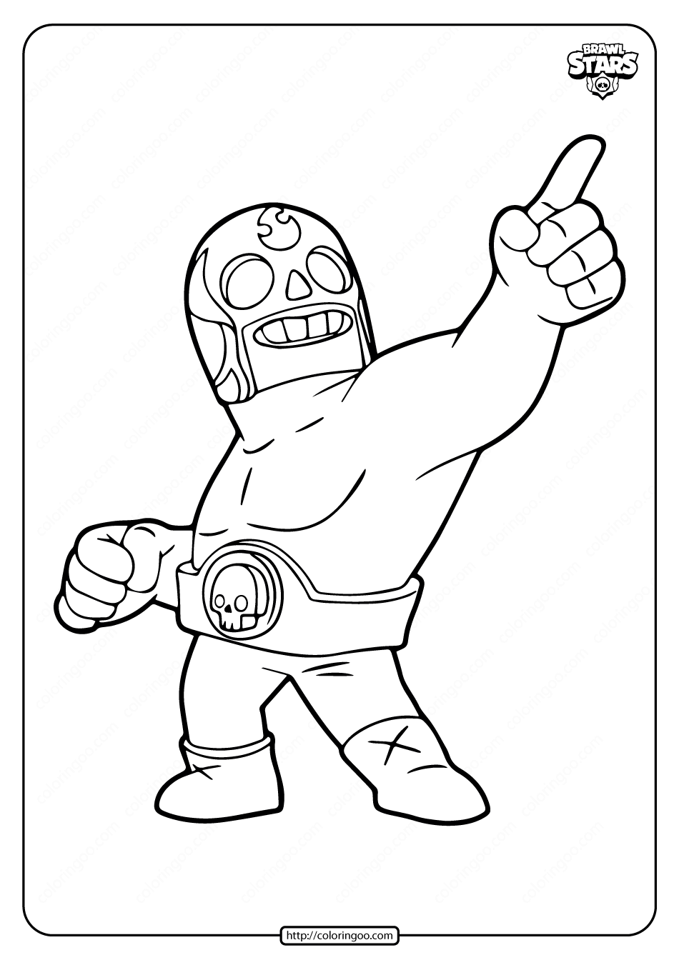 El Primo Brawl Stars Coloring Pages