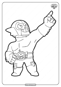 El Rudo Primo Brawl Stars Coloring Pages