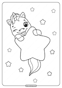 Free Printable Unicorn Coloring Pages for Girls