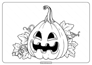 Happy Jack-O-Lantern Coloring Pages