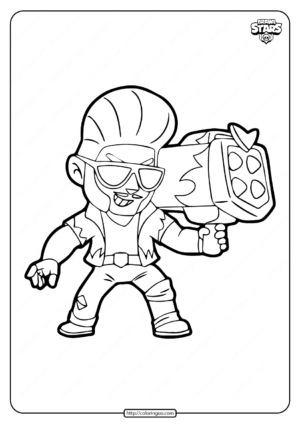 Hot Rod Brock Brawl Stars Coloring Pages