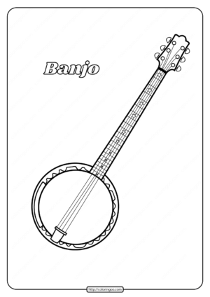 Printable Banjo Coloring Pages