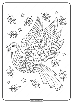 Printable Dove Adult Coloring Pages