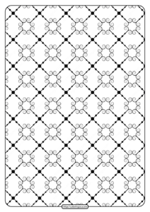 Printable Geometric Pattern Pdf Coloring Page 024
