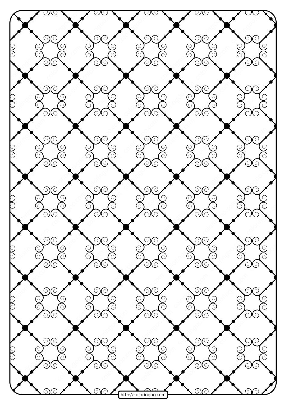 Printable Geometric Pattern Pdf Coloring Page 024
