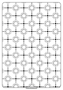 Printable Geometric Pattern Pdf Coloring Page 025