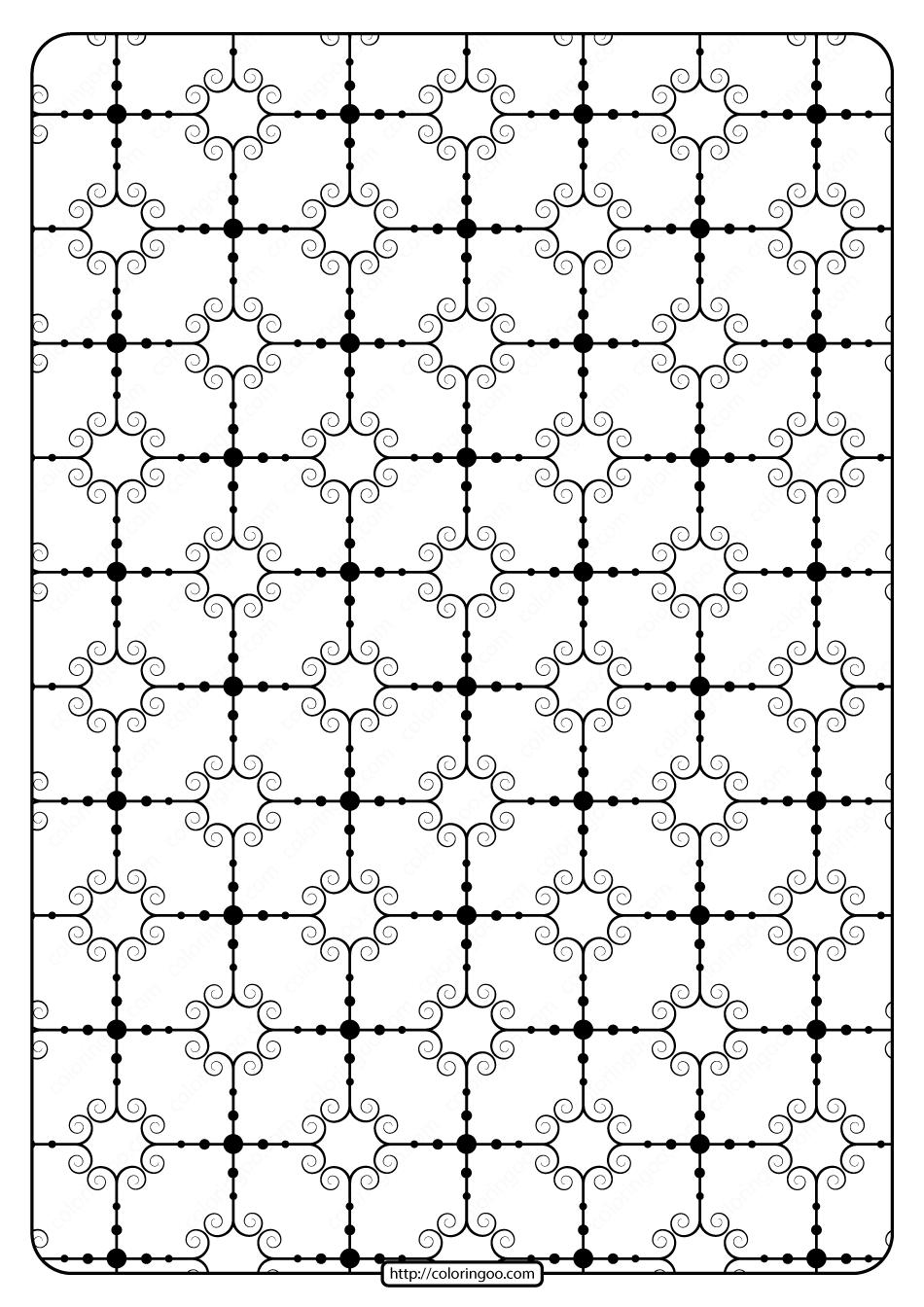 Printable Geometric Pattern Pdf Coloring Page 025