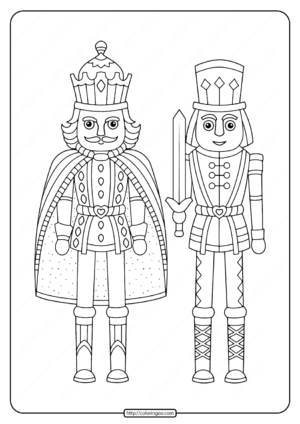 Printable Nutcracker Christmas Coloring Pages
