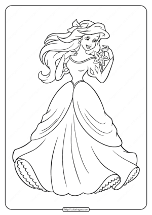 Printable Princess Ariel Coloring Pages for Girls