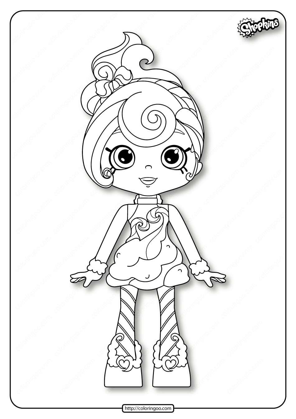 Printable Shopkins Candy Sweets Coloring Pages