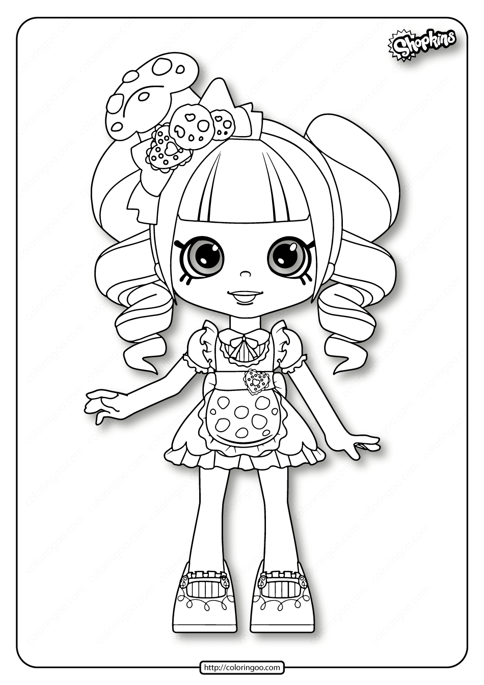 Printable Shopkins Coco Cookie Coloring Pages