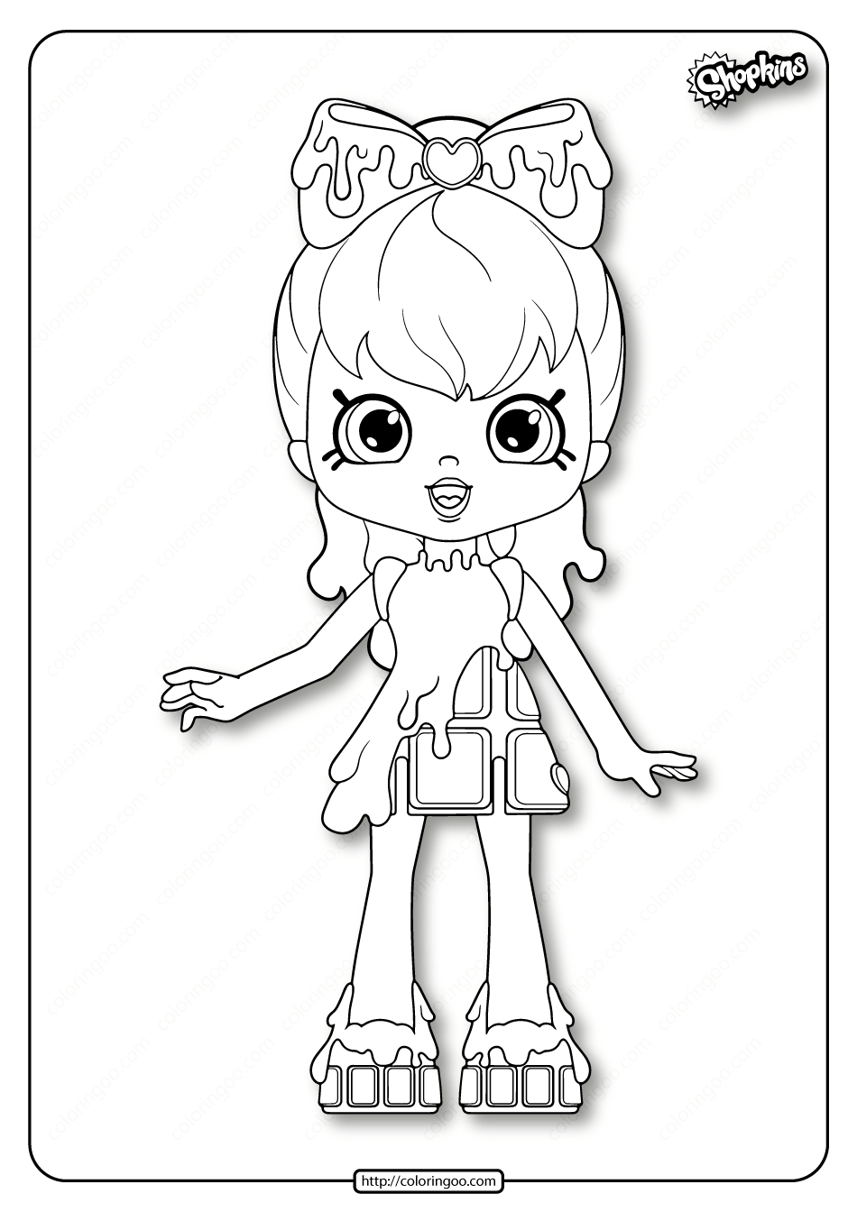 Printable Shopkins Cocolette Coloring Pages