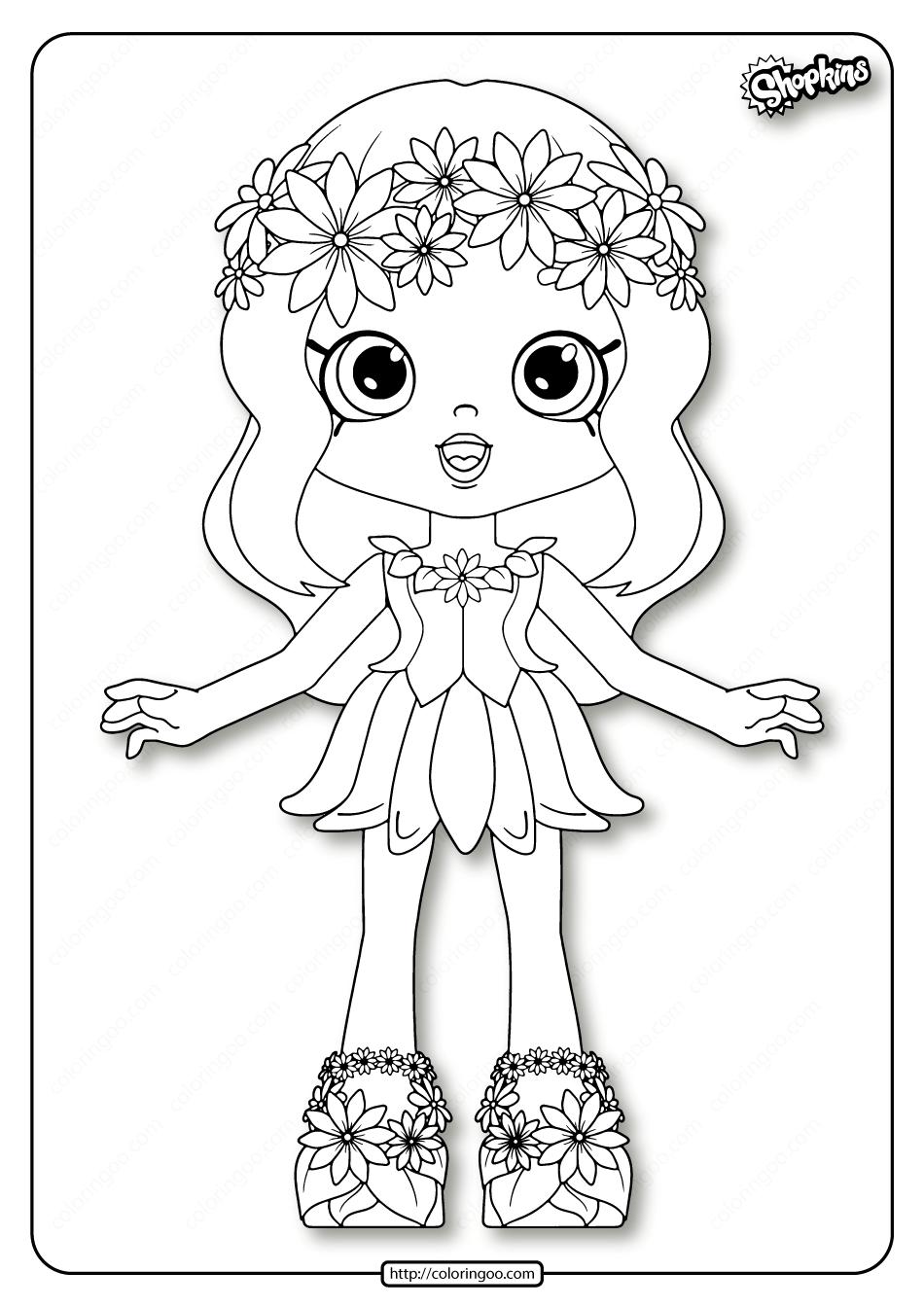 Printable Shopkins Daisy Petals Coloring Pages