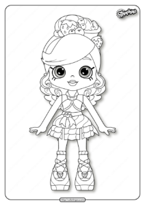Printable Shopkins Fria Froyo Coloring Pages