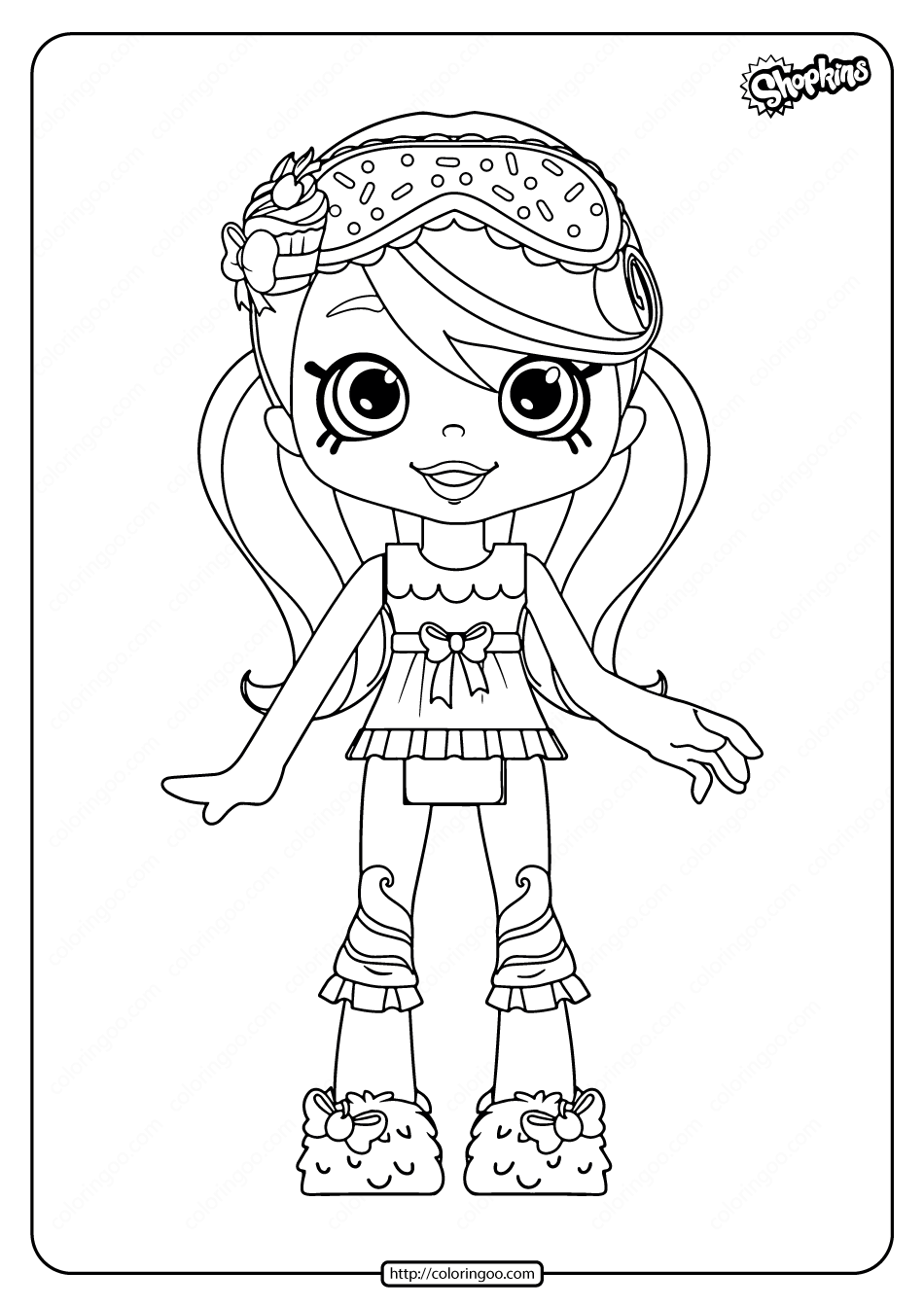Printable Shopkins Jessicake Coloring Pages