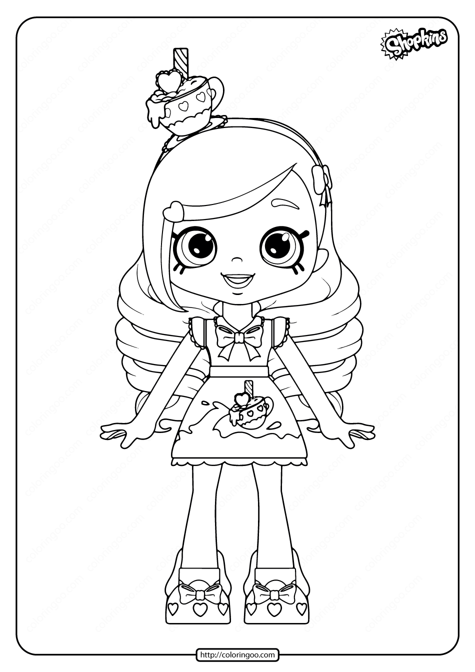 Printable Shopkins Kirstea Coloring Pages