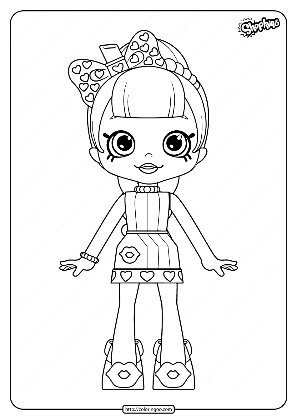 Printable Shopkins Lippy Lulu Coloring Pages