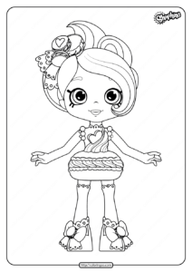 Printable Shopkins Macy Macaron Coloring Pages