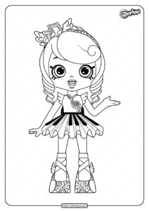 Printable Shopkins Melodine Coloring Pages