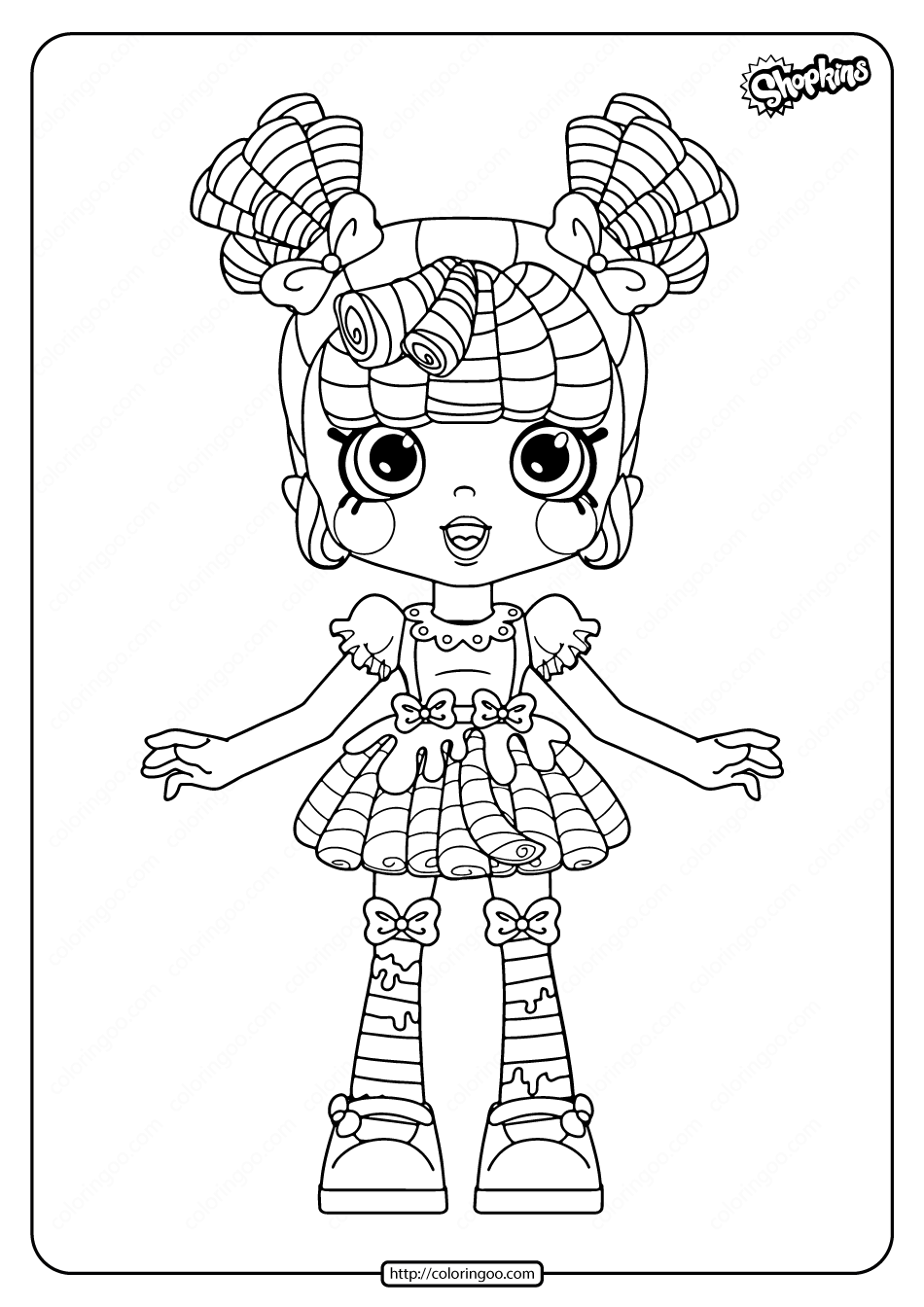 Printable Shopkins Milly Mops Coloring Pages