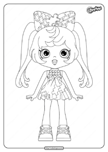 Printable Shopkins Pia Puzzle Coloring Pages