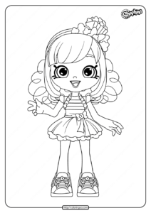 Printable Shopkins Popette Coloring Pages