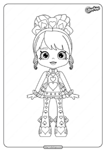 Printable Shopkins Queenie Hearts Coloring Pages