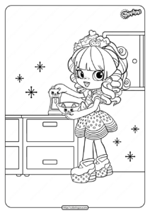 Printable Shopkins Rainbow Kate Coloring Pages