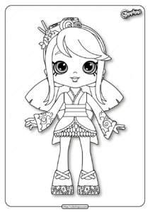 Printable Shopkins Sara Sushi Coloring Pages