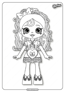 Printable Shopkins Spaghetti Sue Coloring Pages