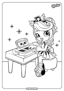 Printable Shoppies Melodine Coloring Pages
