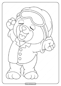 Printable Sleepy Bear Coloring Pages