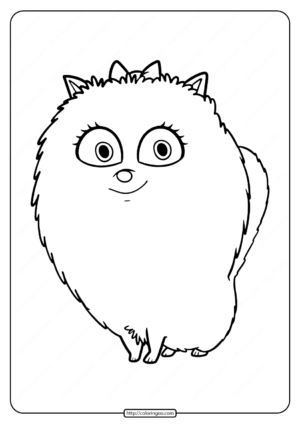 Printable Super Cute Lady Dog Coloring Pages