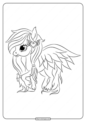 Printable Winged Pony Coloring Pages
