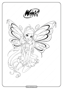 Printable Winx Cbub Enchantix Bloom Coloring Pages