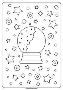 Printables Crystal Ball Coloring Pages