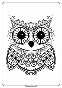 Printables Cute Owl Coloring Pages