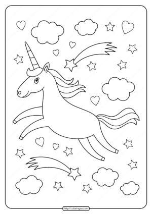 Printables Unicorn Coloring Pages 01