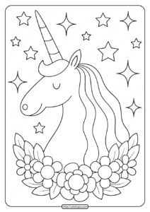 Printables Unicorn Coloring Pages 02