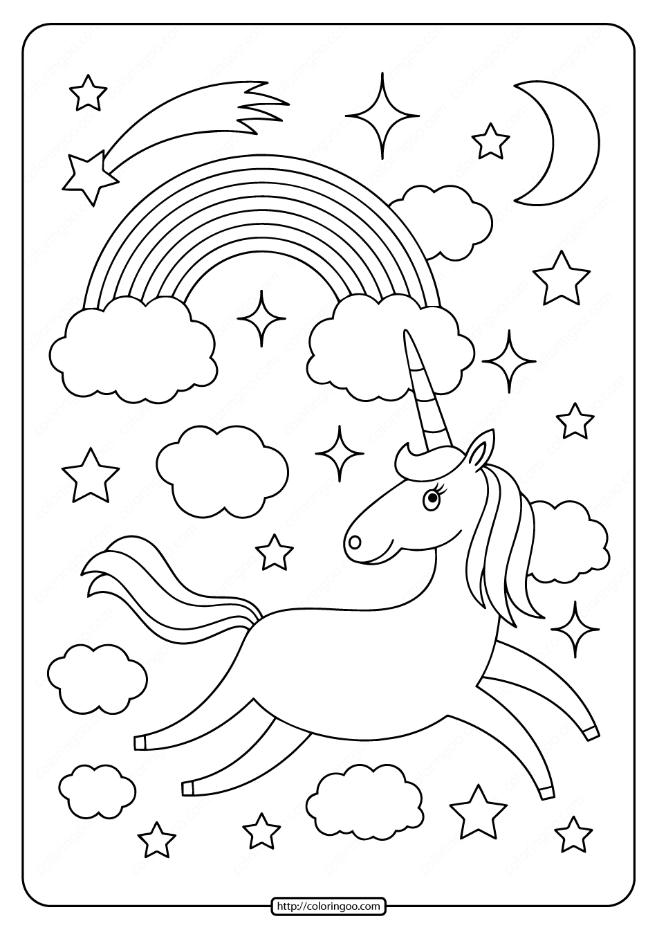 Printables Unicorn Coloring Pages 03