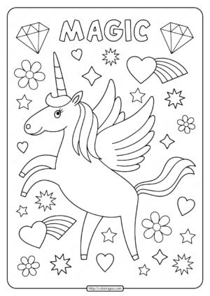 Printables Unicorn Coloring Pages 04