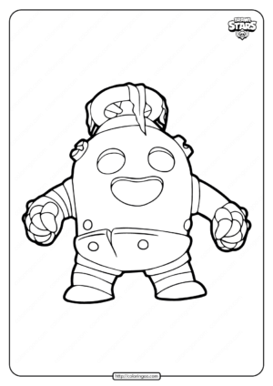 Robo Spike Brawl Stars Coloring Pages