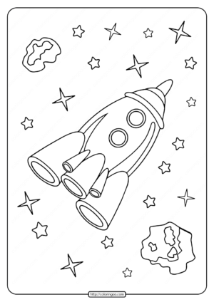 Rocket Among the Stars Coloring Pages