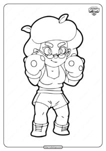 Rosa Brawl Stars Coloring Pages
