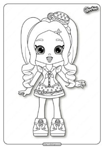 Shopkins Chelsea Cheeseburger Coloring Pages