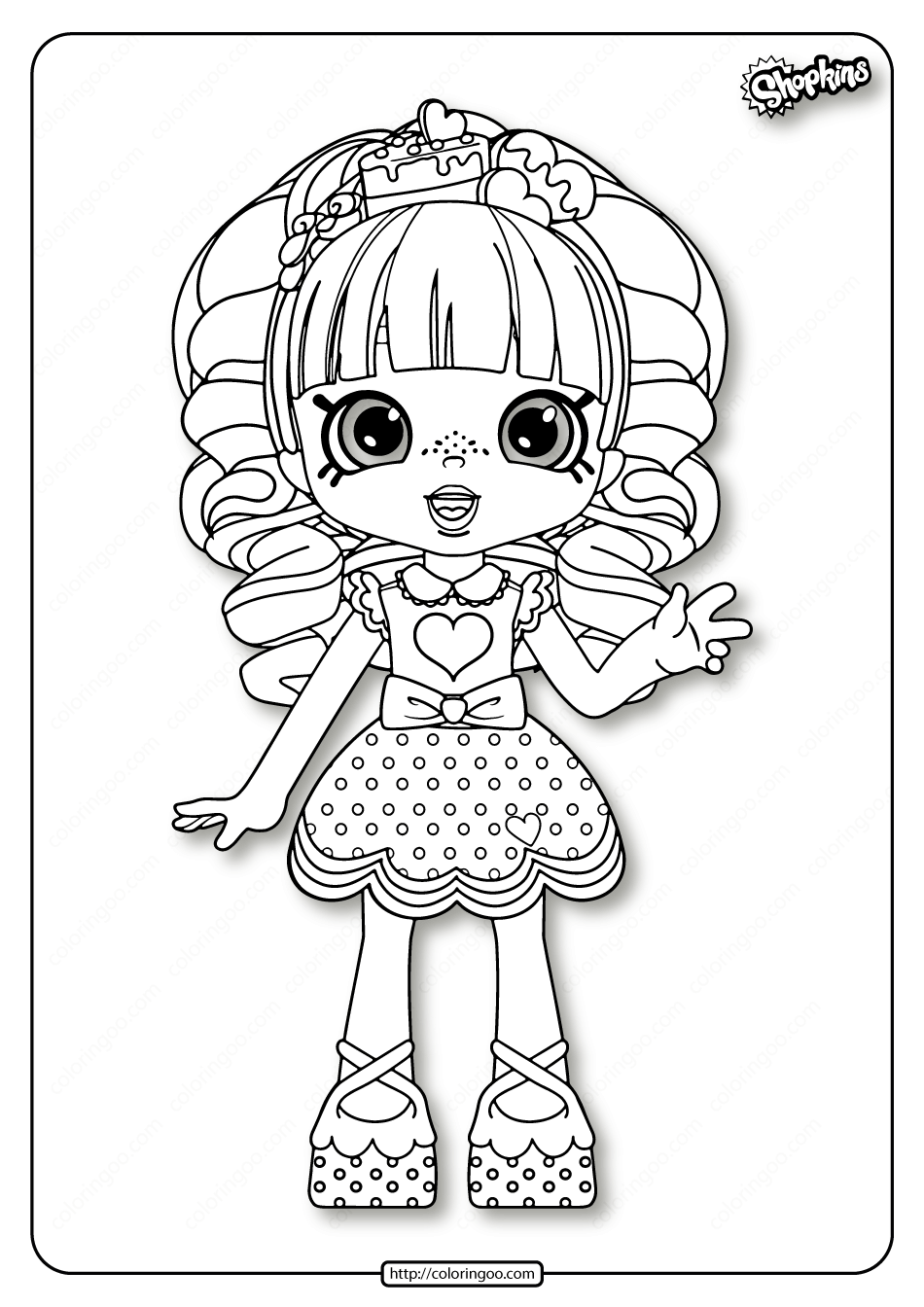 Shopkins Rainbow Kate Coloring Pages