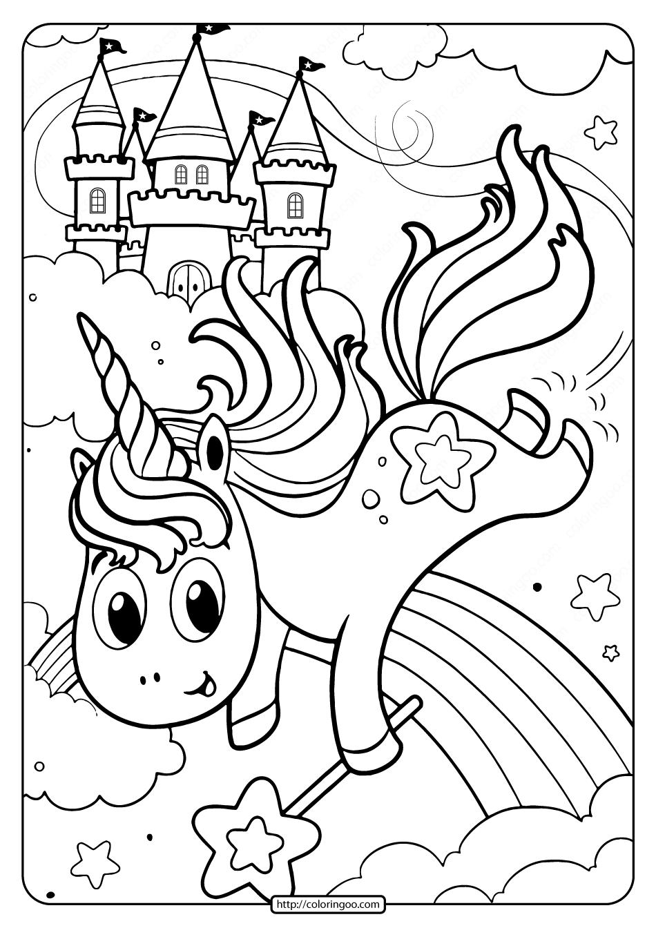 Uni-Creatures Unicorn Coloring Pages