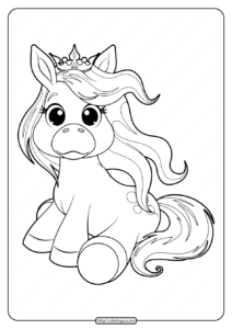 Very Cute Pony Coloring Pages