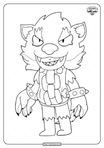 Free Printable Brawl Stars Leon Shark Coloring Pages