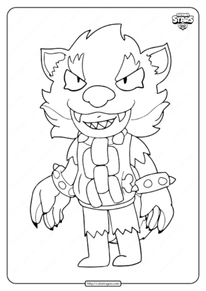 Werewolf Leon Brawl Stars Coloring Pages